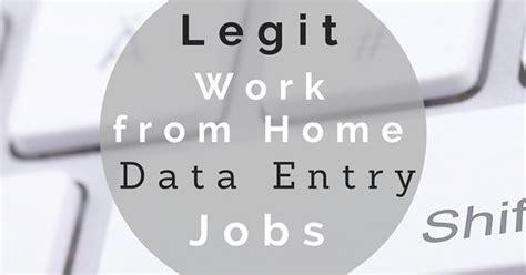 legitimate data entry gigs data entry