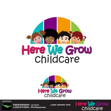 daycare service daycare logo design in canada hiretheworld