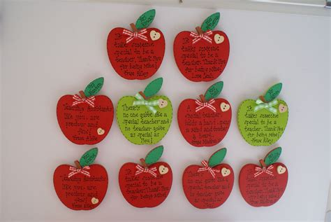 Thank You Gifts For Teachers Handmade - personalised thank you gift apple fridge magnet