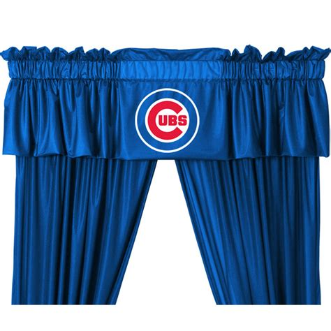 chicago cubs curtains new 5pc mlb chicago cubs drapes valance set baseball