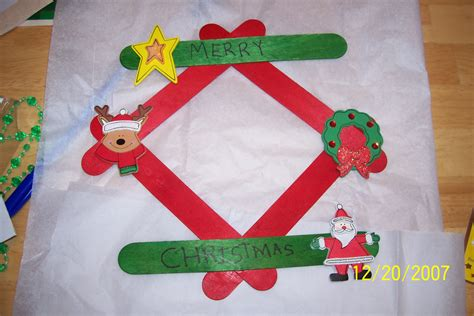 christmas craft picture frame crafts pinterest