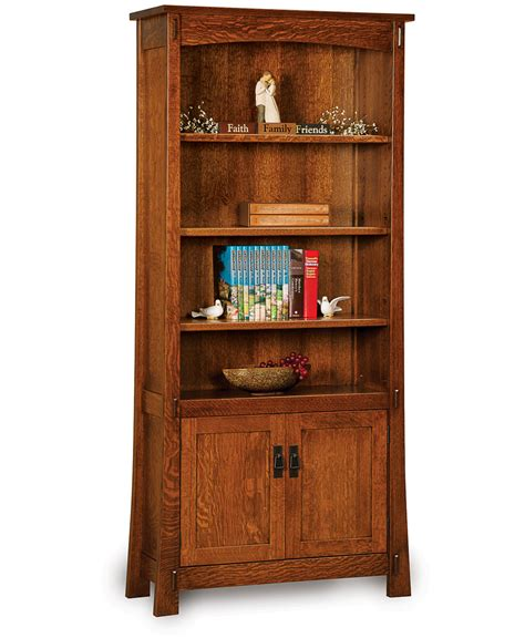 Bookcases With Doors Modesto Bookcase With Doors Amish Direct Furniture