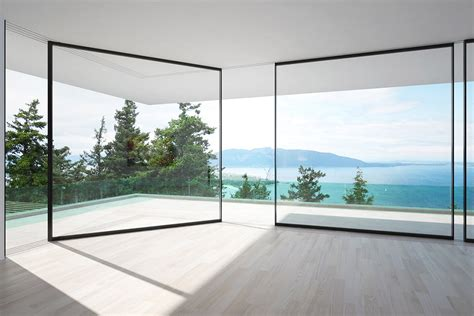 glass walls vitrocsa s glass walls slide around corners to serve your