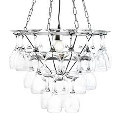 wine glass chandelier uk wine glass chandelier 3 tier in silver from litecraft