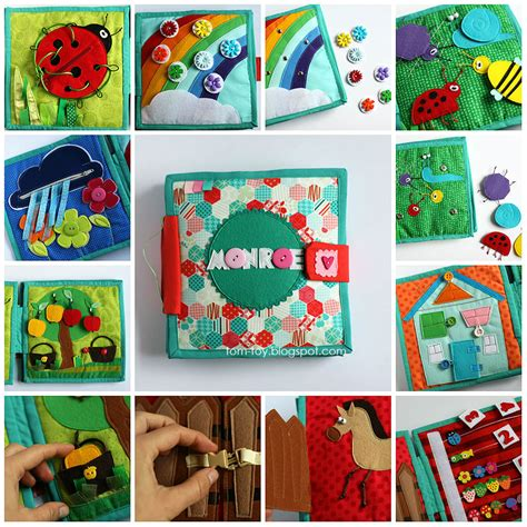 Handmade Busy Book - tomtoy book for
