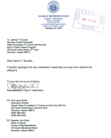 Apology Letter Racism Non Apology Apology Is Rep Hanohano Really Sorry For Rant Hawaii Reporter