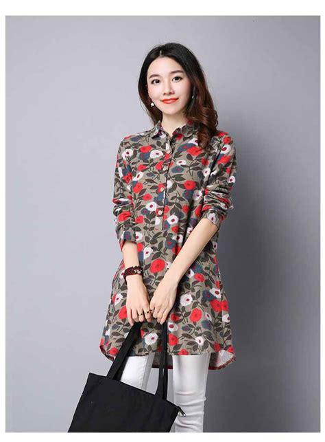 Murah Kaki Wanita Fashion Tatoo Bunga Murah blouse motif bunga lengan panjang murah myrosefashion