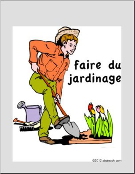 Faire Du Jardinage by Affiche Faire Du Jardinage Abcteach