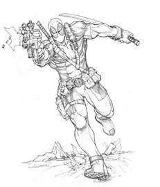 deadpool coloring free printable deadpool coloring pages for