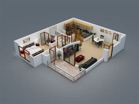 floor plan to 3d home design floor plan d house building design 3d house