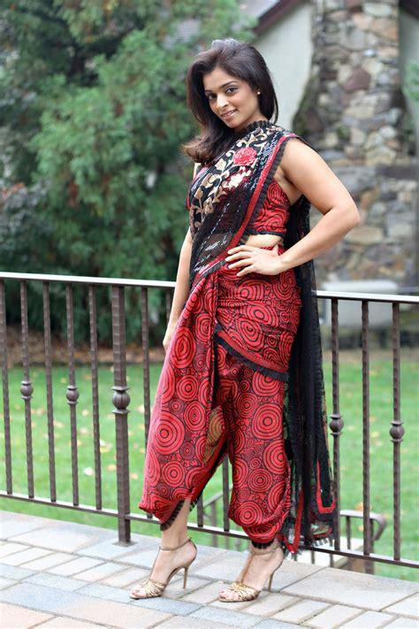 south indian saree draping dhoti style sari runways rattles