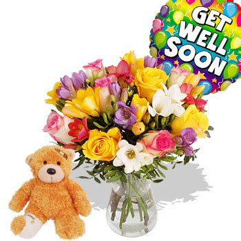 get well soon flower bouquet quotes