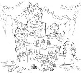 Mario Bowser Castle Coloring Pages Sketch Page sketch template