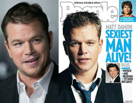matt damon then and now sexiest alive now and then s sexiest alive