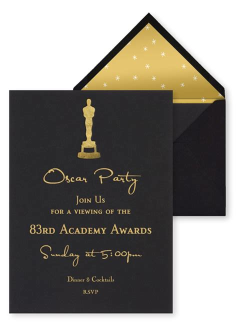 oscar invitation template easy oscar ideas 2011 belly feathers handmade