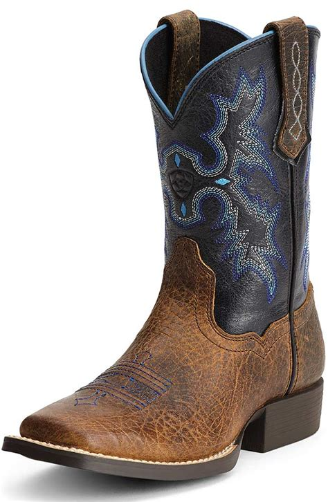 ariat square toe cowboy boots ariat childrens tombstone square toe cowboy boots earth