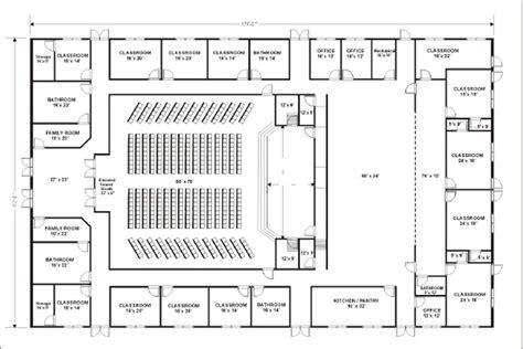 Nice Church Fellowship Hall Floor Plans #4: 112x176-Church.png