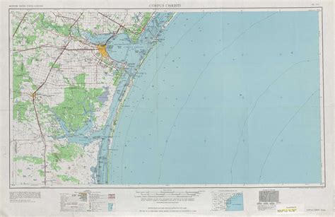 topo maps texas corpus christi topographic maps tx usgs topo 27096a1 at 1 250 000 scale