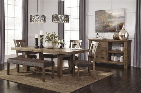 tamilo d714 45 dining room set by ashley furniture tamilo gray brown rectangular extendable dining room set