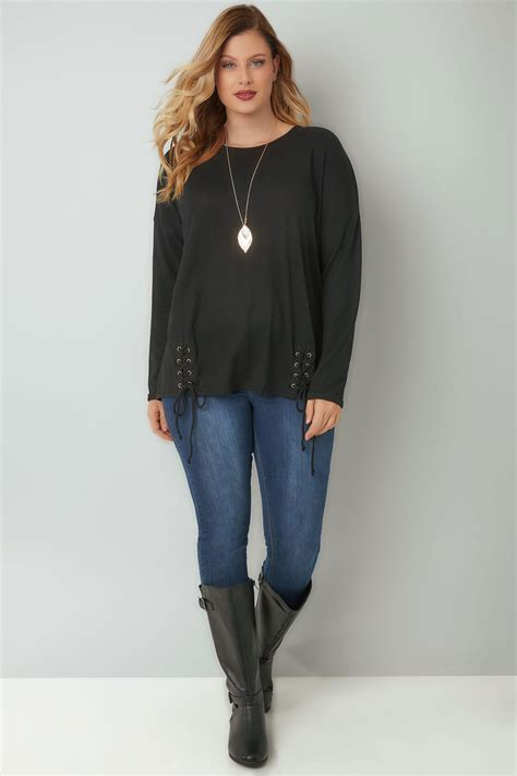 Check Value Of Visa Vanilla Gift Card - blue vanilla curve black knitted jumper with double lace up hem plus size 18 to 28