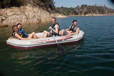 mariner 4 boat intex mariner 4 inflatable raft river lake dinghy boat
