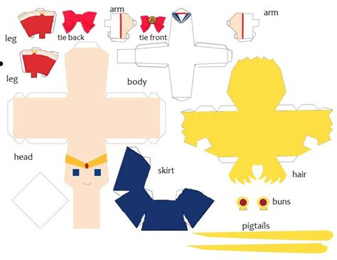 Sailor Moon Papercraft - sailor moon pattern by dragazhar on deviantart