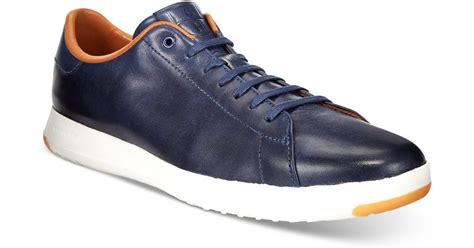 cole haan s grand pro tennis sneakers in blue for lyst