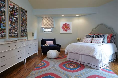 teen girls bedroom ideas Bedroom Eclectic with beige rug