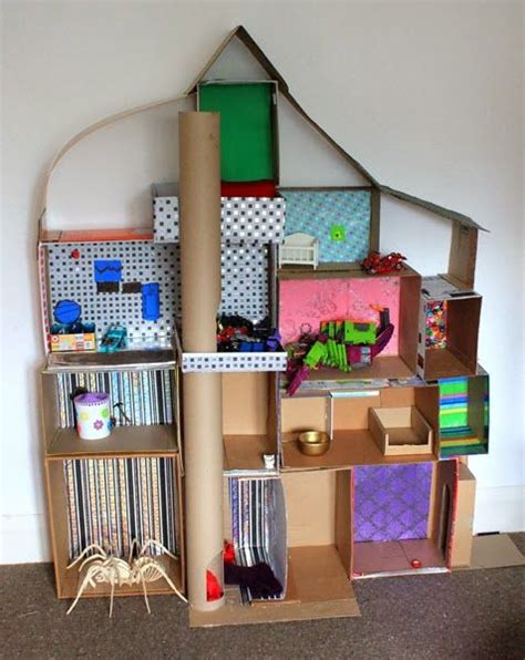 themes in a doll house doll houses dolls and cardboard boxes on pinterest