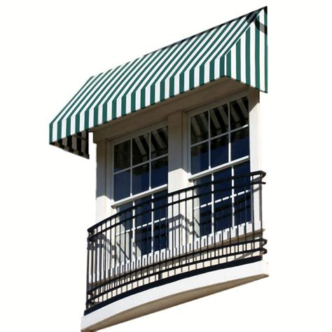 awntech 8 ft new yorker window entry awning 44 in h x