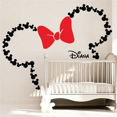 Celengan Custome Tema Mickey Minnie Mouse 1 mickey mouse inspired ears with bow personalized baby name minnie mouse inspired wall decals