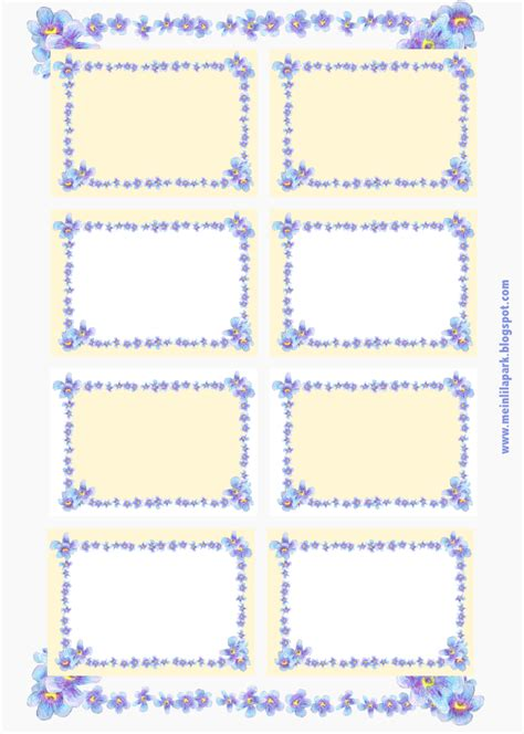 Etiketten Drucken Kostenlos Schulhefte by Free Printable Forget Me Not Flower Tags And Labels