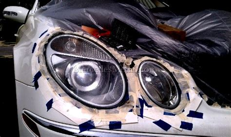 mercedes headlights at clean discolored headlights diy diy do it your self