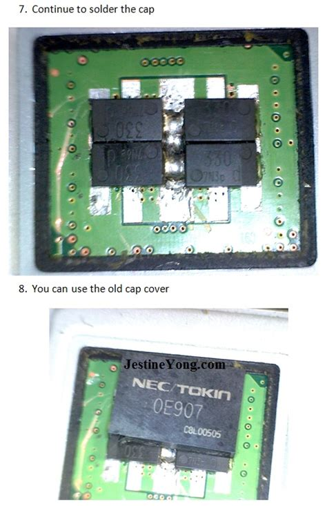 capacitor nec how to replace nec tokin high speed decoupling capacitor in toshiba laptop electronics repair