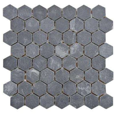 hexagon tile flooring the home depot