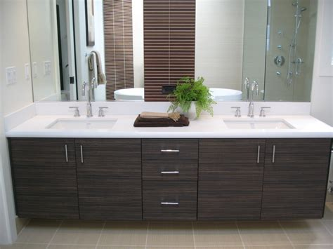 Contemporary Bathroom Cabinets Foloating Vanities Textured Laminate Contemporary Bathroom San Francisco By Cabinets