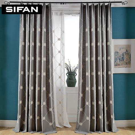 fancy window curtains korean linen tree embroidered curtains fancy window