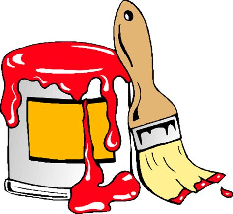 painter free paint can with brush clipart i2clipart royalty free