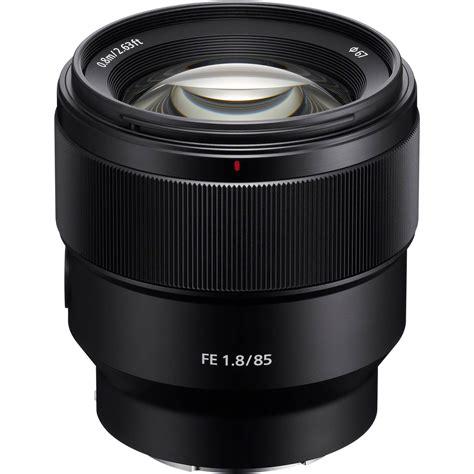 Lensa Sony Frame sony fe 85mm f 1 8 lens sel85f18 b h photo