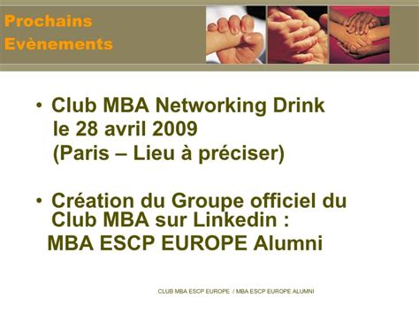Escp Europe Distance Mba by Le Club Mba Escp Europe 2009