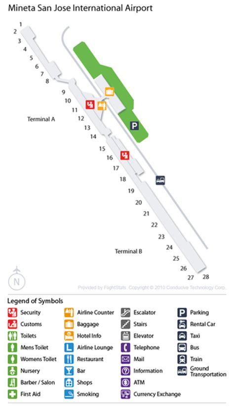 sjc terminal map cheap airport car rental deals at san jose intl usa sjc