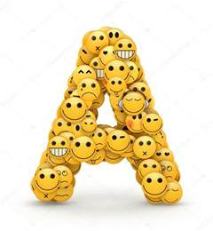 emoticons letter a stock photo 169 iunewind 29993975