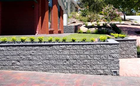 Concrete Retaining Wall Blocks Made From Adelaide Concrete Garden Blocks For Retaining Wall