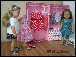 How To Make Doll Closet by Gigi S Doll And Craft Creations American Doll Closet
