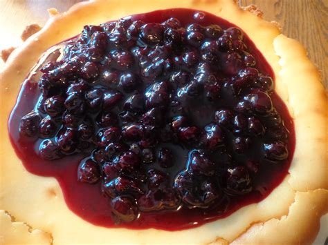 cheesecake with blueberry topping recipe dishmaps
