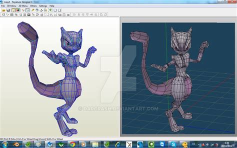 Mewtwo Papercraft - mewtwo armored papercraft by darcrash on deviantart