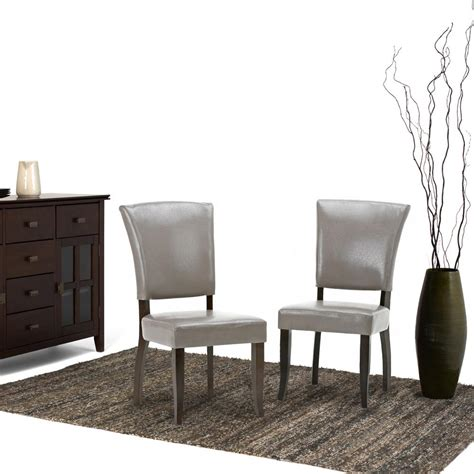 Tp 001 Set Jangkar simpli home joseph taupe pu faux leather dining chair set of 2 axcdchr 001 tp the home depot