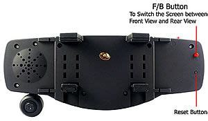 rear view mirror camera with built in dvr and audio