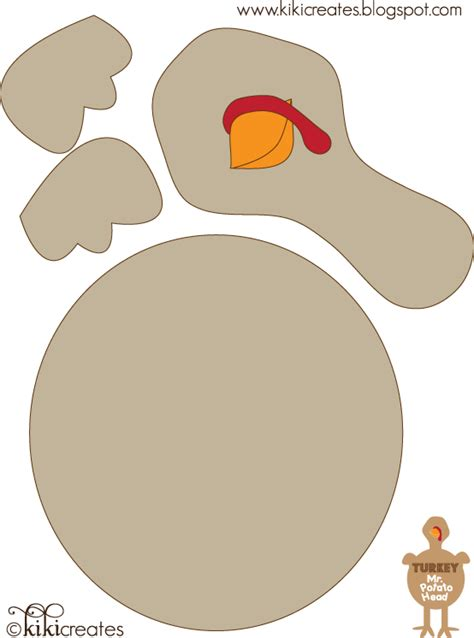 turkey cut out template creates mr and mrs turkey potato free downloads