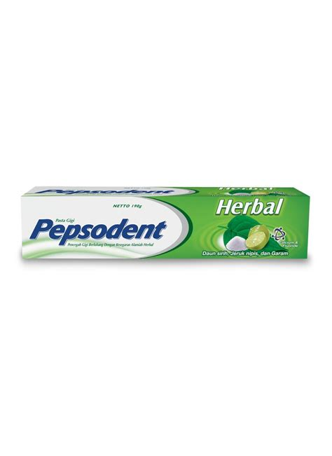 pepsodent pasta gigi herbal tub 190g klikindomaret